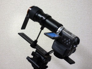 Video Camera with Tele-conversion Lens