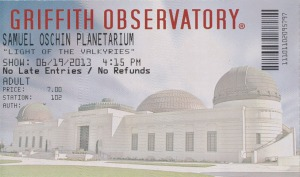 Planetarium Ticket