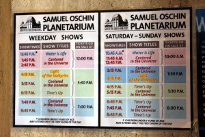 Planetarium Time Table