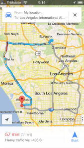 Route to LAX