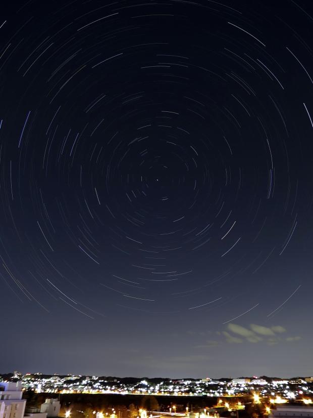 北天星空軌跡