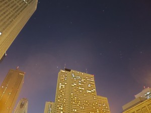 街灯のカブリ