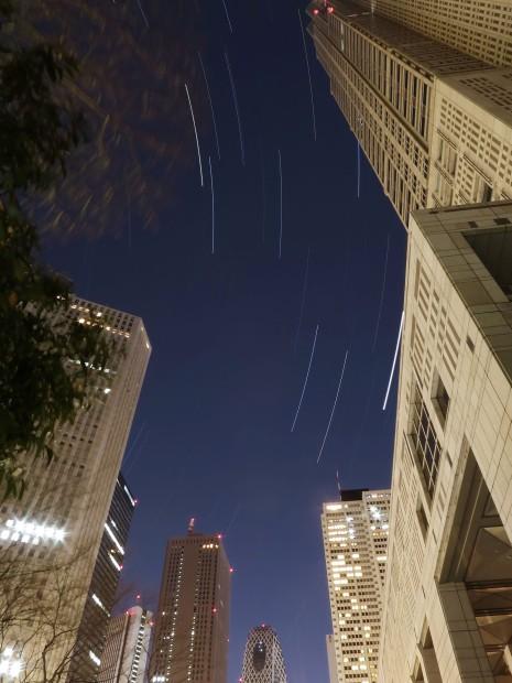 新宿副都心のぎょしゃ座、ふたご座、木星