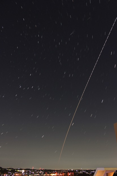ISS & Cosmos Rocket