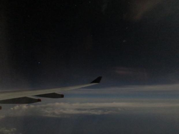機内から見たアケルナル