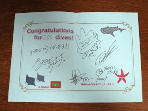 Congrat for 200 Dives