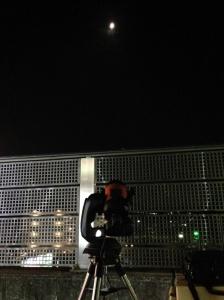 ISS月面通過撮影風景