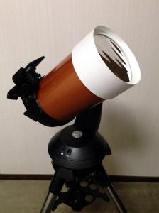 NexStar 5SEに装着した太陽フィルタ