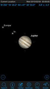 Jupiter on SkySafari 4