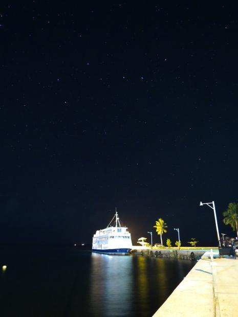 北斗七星と船