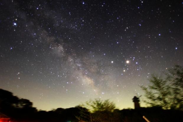Milkyway, Saturn, Mars and Antares