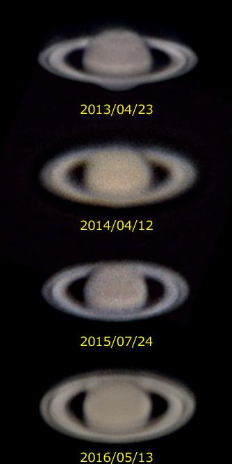 土星の輪の変化