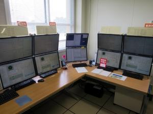4つのアンテナのコントロール画面