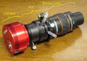 Camera, ADC, Barlow Lens